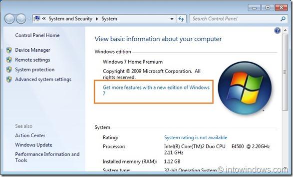 Actualizar Windows 7 Home Premium a Professional Edition