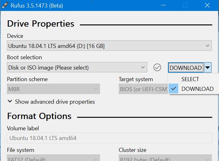 Use Rufus para descargar Windows 10 ISO pic2