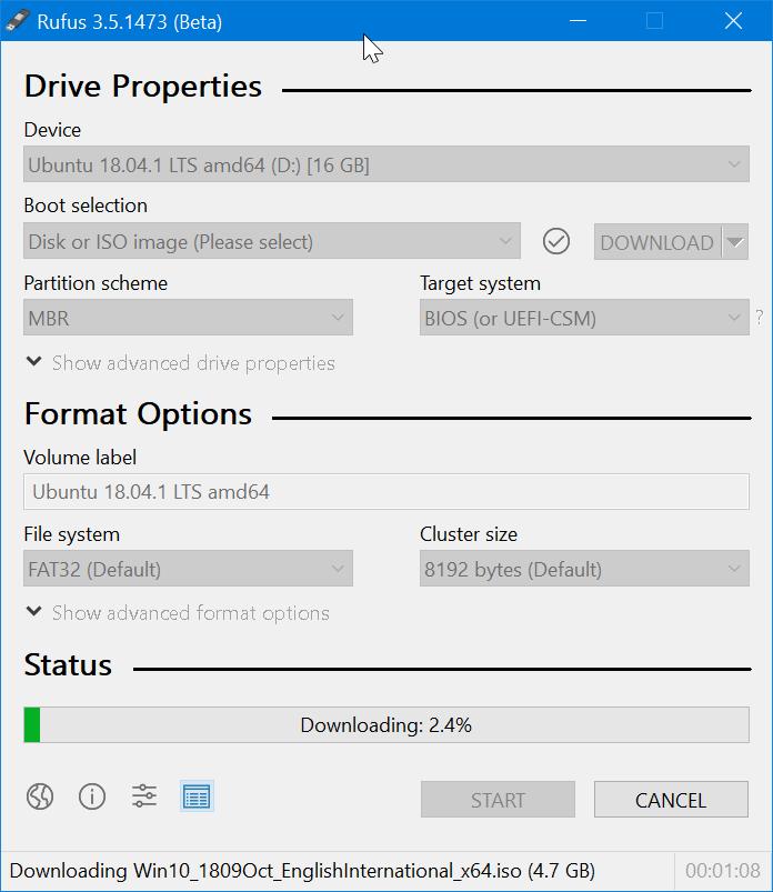Use Rufus para descargar Windows 10 ISO pic9