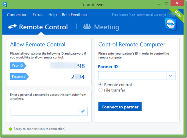 Use TeamViewer 10 without installing