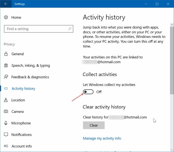 Ver y borrar el historial de actividad en Windows (01)
