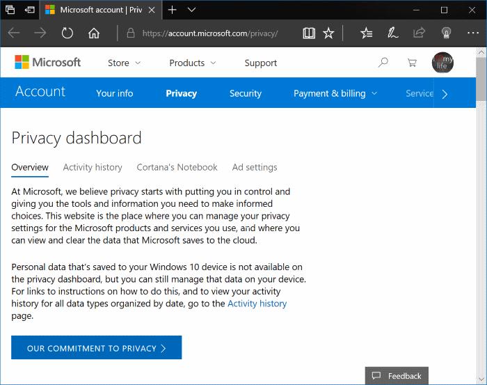 Ver y borrar el historial de actividad en Windows (2)