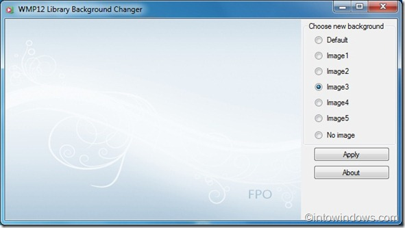 WMP12 Library Background Changer2