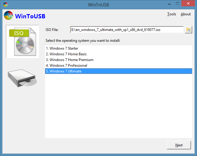 WinToUSB descarga gratuita