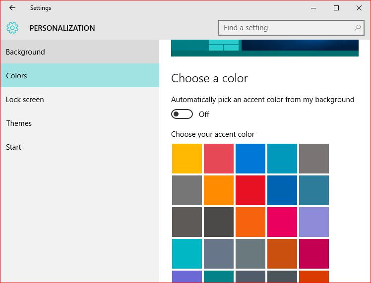 Windows 10 Color Control pic1