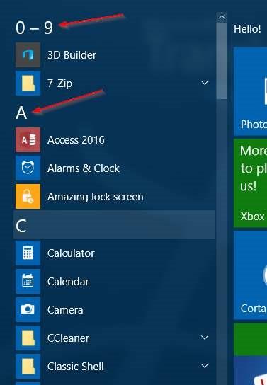Windows 10 Consejos de búsqueda del menú Inicio (1)