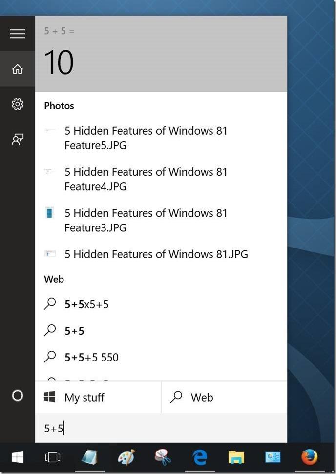 Windows 10 Consejos de búsqueda en el menú Inicio 6
