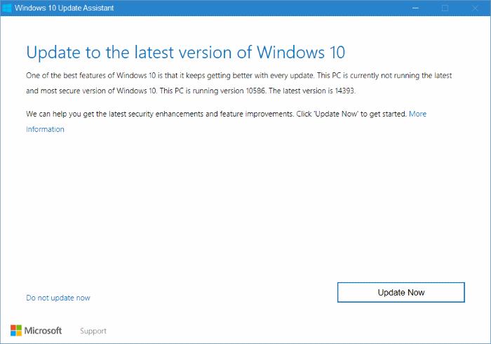 Asistente de actualización de Windows 10 pic2
