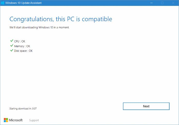 Asistente de actualización de Windows 10 pic4