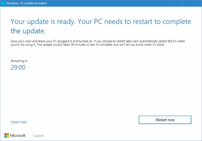 Asistente de actualización de Windows 10 pic9