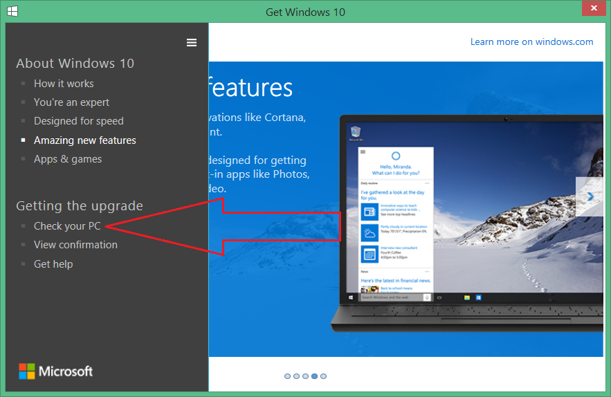 Asesor de actualizaciones de Windows 10