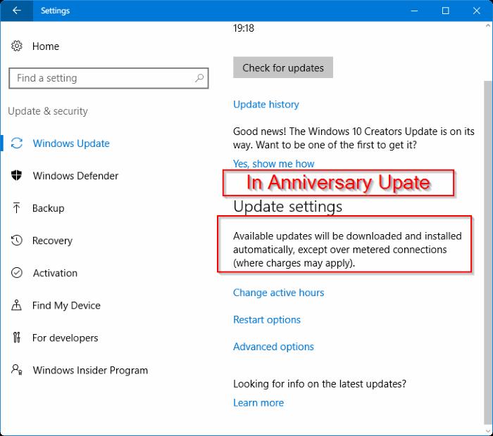 Windows 10 descarga actualizaciones sobre conexión medida
