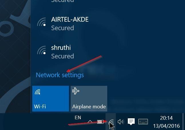 Windows 10 no recuerda la contraseña wifi paso 1