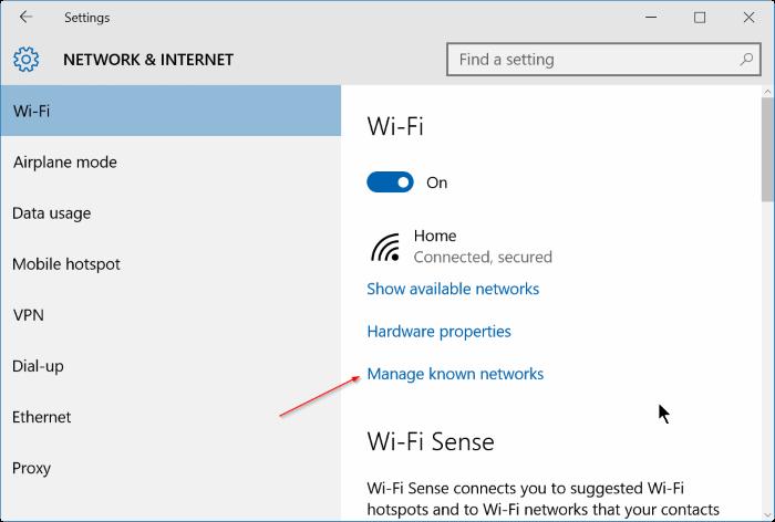 Windows 10 no recuerda la contraseña wifi step2