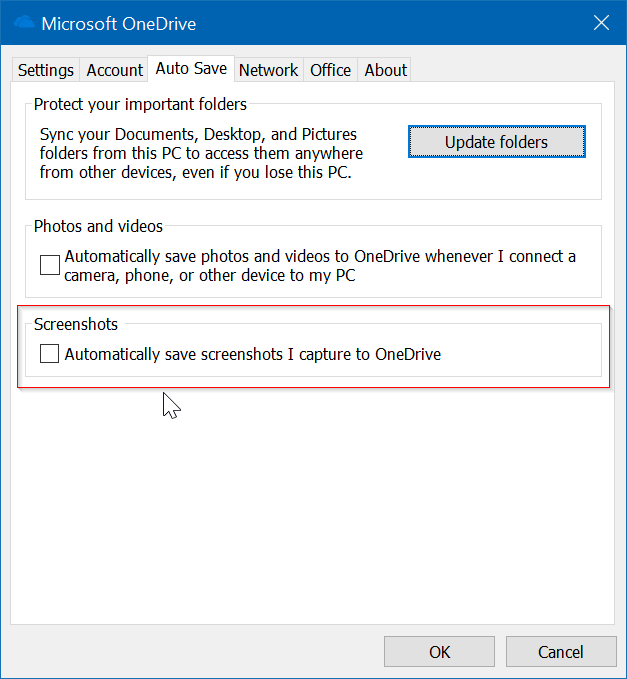 Windows 10 no guarda capturas de pantalla en la carpeta Screenshots pic2