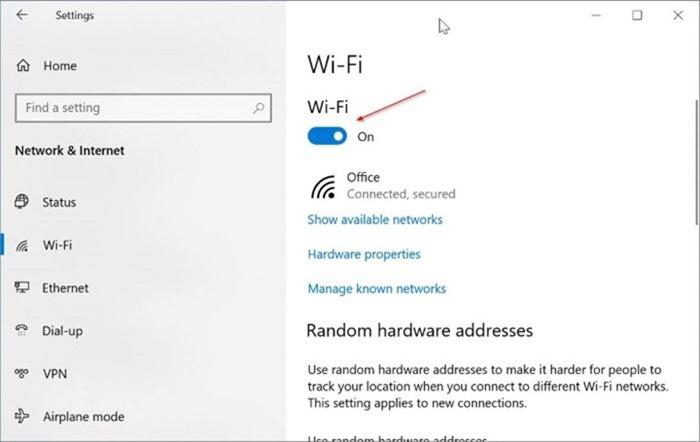 Windows 10 mostrando el icono ethernet en lugar de Wi Fi pic2.png