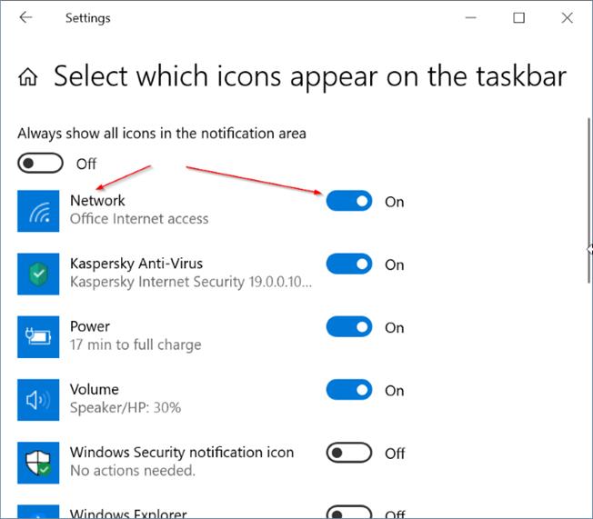 Windows 10 mostrando icono ethernet en lugar de Wi Fi pic4