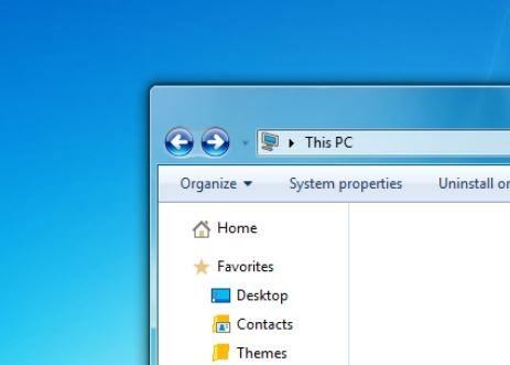Windows 7 Aero glass theme for Windows 10