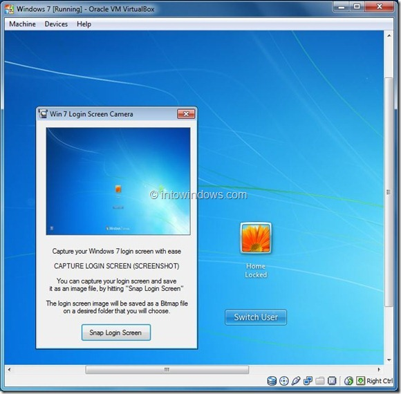 Windows 7 Login Screen Camera Tool