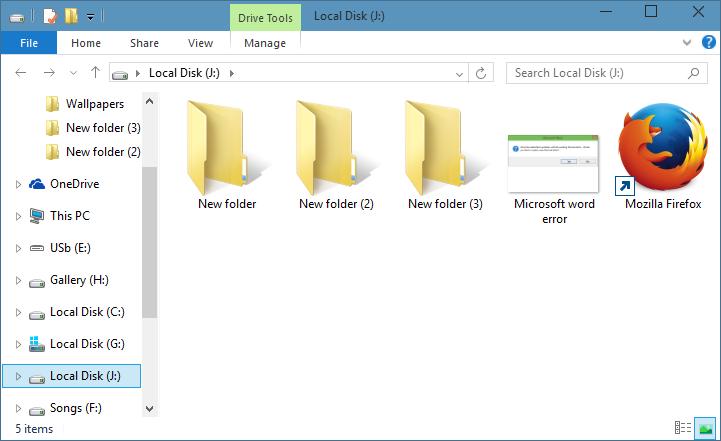 Iconos de carpeta de estilo Windows 7 en Windows 10 step01
