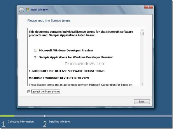 Windows 8 Installation Procedure Step5