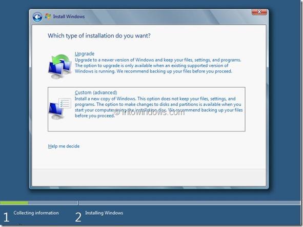 Windows 8 Installation Procedure Step6