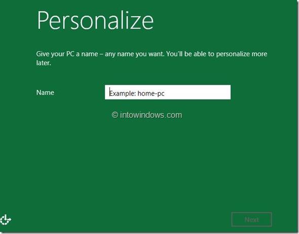 Windows 8 Installation Procedure Step9