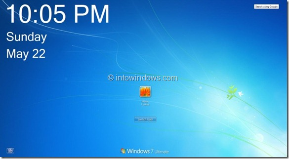 Windows 8 Logon Clock And Date for Windows 7