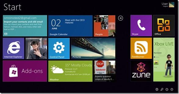 Windows 8 Start Sreen