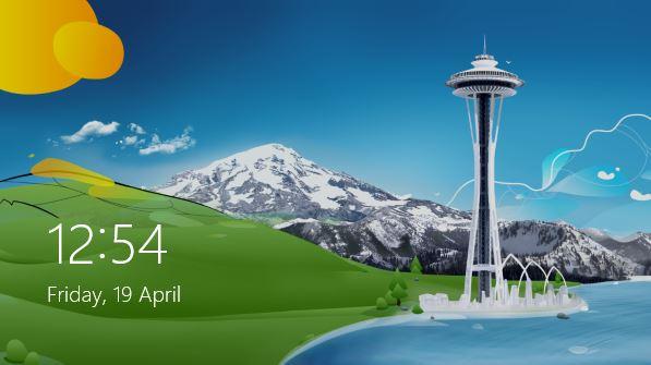 Fecha y bloqueo estilo Windows 8 en la pantalla de inicio de sesión de Windows 7