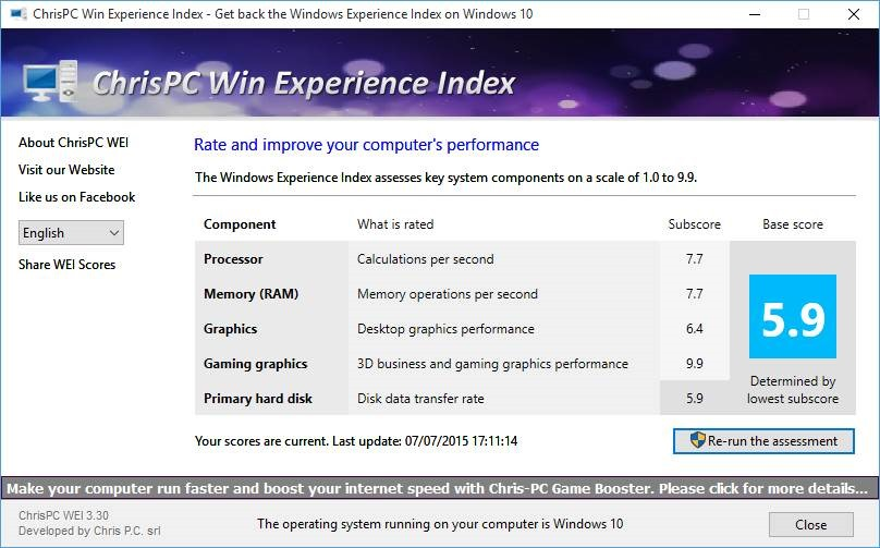 Get Windows Experience Index In Windows 10 pic3