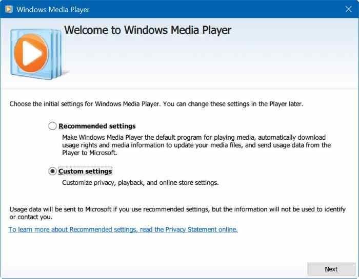 Reproductor de Windows Media para Windows 10