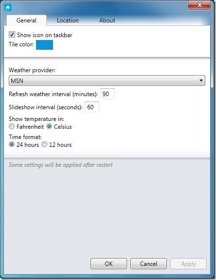 Windows Phone 7 Metro Ui for Windows 7 Settings
