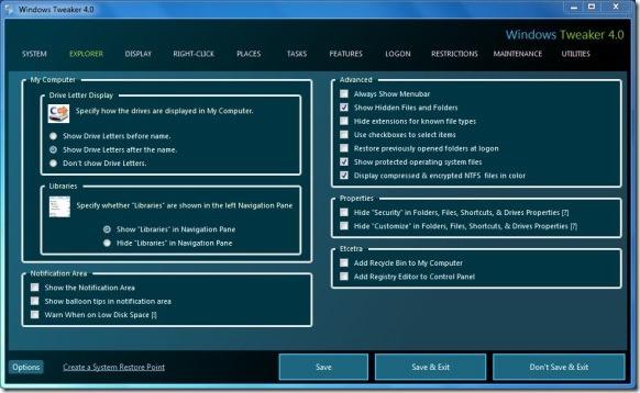 Windows Tweaker for Windows 8