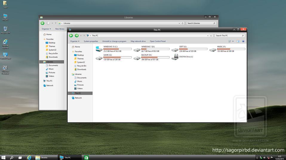 Temas de Windows XP para Windows 10 impresionantes
