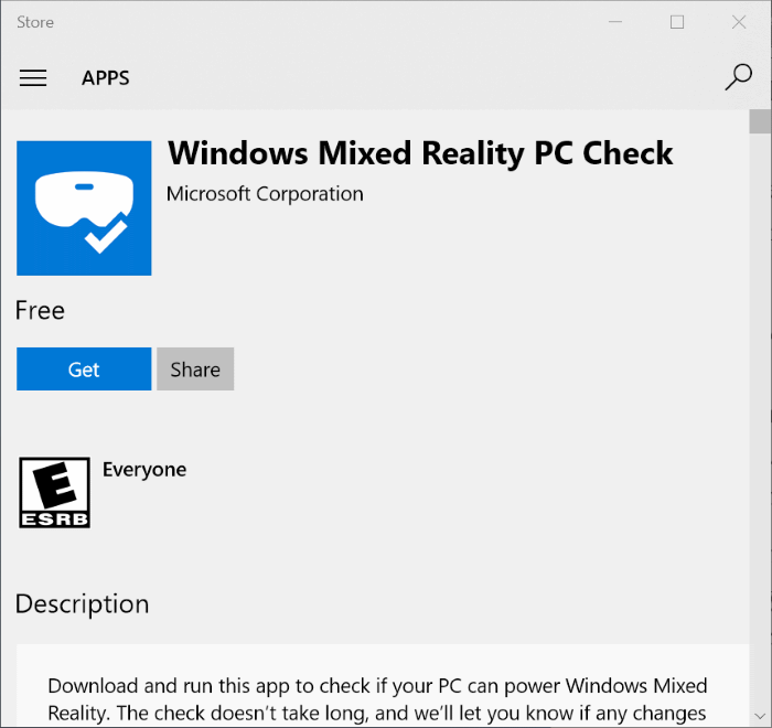 Windows mixed reality PC check if your PC supports Windows 10 mixed reality pic1