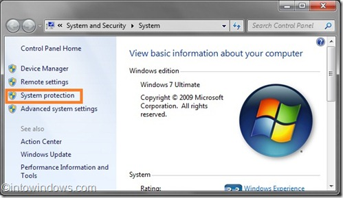 Propiedades del sistema Windows 7
