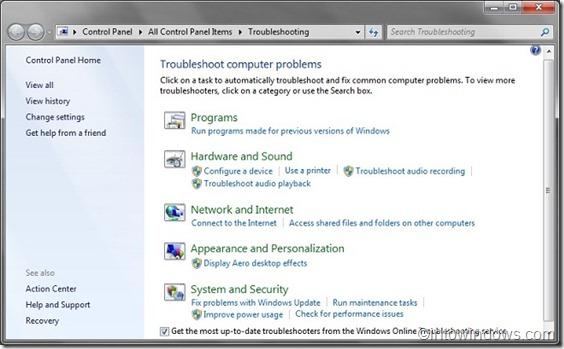 Solución de problemas de Windows 7