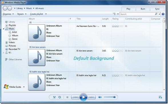 Reproductor de Windows Media 12 en Windows 7