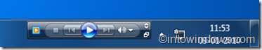 Barra de herramientas de la barra de tareas del Reproductor de Windows Media
