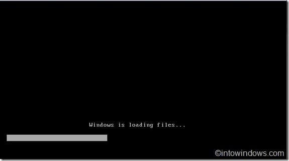 Windows está cargando archivos