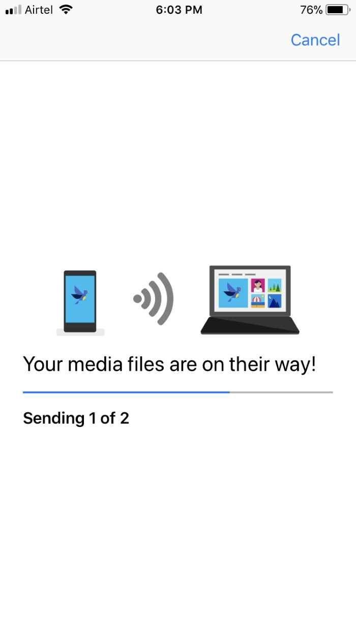 Transferencia inalámbrica de fotos del iPhone a Windows 10 (14)