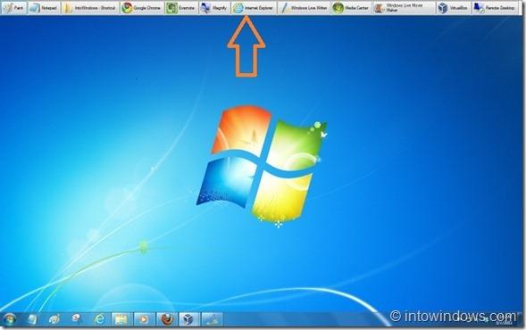 Barra de herramientas de escritorio XP para Windows 7