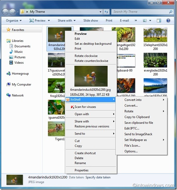 XnView Extension for Windows 7