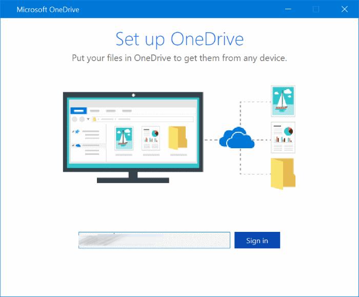 La carpeta de OneDrive no se puede crear en la ubicación que seleccionó pic3