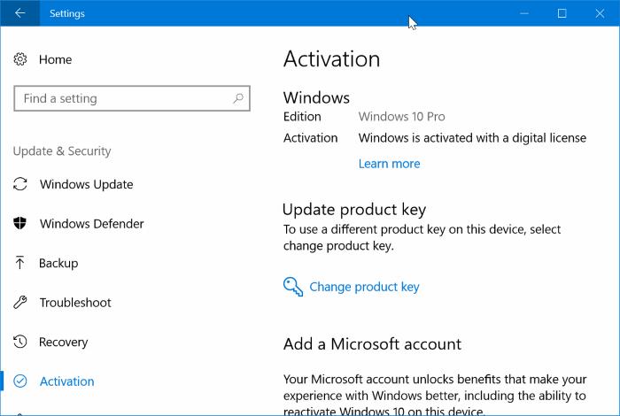 activar Windows 10 después de reemplazar el disco duro con SSD pic1