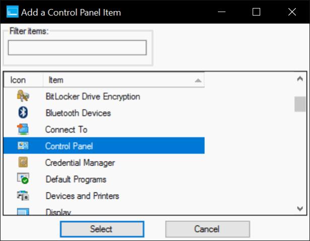 añadir panel de control para ganar el menú X en Windows 10 pic2