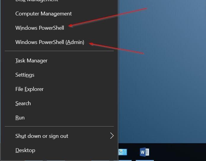 añadir línea de comandos para ganar x menú de usuario avanzado Windows 10 pic1