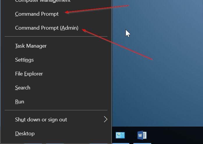 añadir línea de comandos para ganar x menú de usuario avanzado Windows 10 pic2
