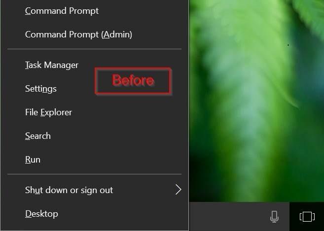 añadir panel de control para ganar x ventanas del menú de usuario avanzado 10 pic1